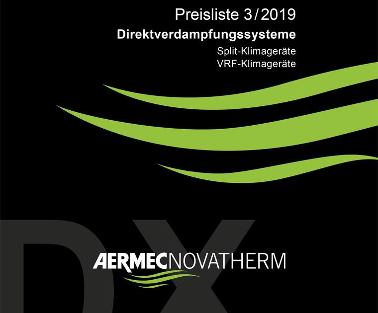 Neuer Katalog Direktverdampfungssysteme 3/2019